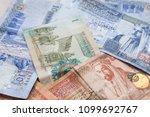 jordanian dinars banknotes with ... | Shutterstock . vector #1099692767