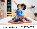 african american family of...   Shutterstock . vector #1099704077