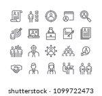 editable simple line stroke... | Shutterstock .eps vector #1099722473