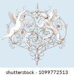 vintage decorative element... | Shutterstock .eps vector #1099772513