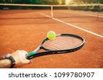 tennis player hand holding...   Shutterstock . vector #1099780907