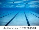 swimming pool underwater...   Shutterstock . vector #1099781543