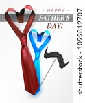 fathers day gift post greeting... | Shutterstock .eps vector #1099812707