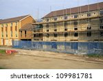 Construction of new houses in Bristol, UK - stock photo
