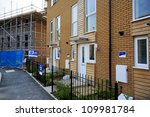 Construction of new affordable housing in Bristol, UK - stock photo