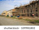 Building of new housing estate in Bristol, UK - stock photo