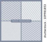 Set Of Monochrome Geometric...