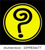 question mark black on a... | Shutterstock .eps vector #1099836677