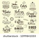 bakery labels  logos  hand... | Shutterstock .eps vector #1099841033