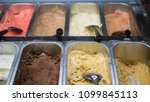 ice cream fridge with creamy... | Shutterstock . vector #1099845113