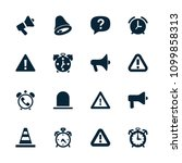 alert icon. collection of 16... | Shutterstock .eps vector #1099858313