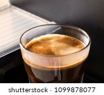 espresso coffee closeup  ... | Shutterstock . vector #1099878077