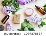 organic skincare and spa... | Shutterstock . vector #1099878587
