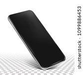 smartphone frame less blank... | Shutterstock .eps vector #1099886453