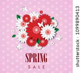 spring sale background with... | Shutterstock .eps vector #1099890413