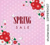 spring sale background with... | Shutterstock .eps vector #1099890437