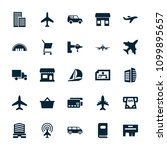 commercial icon. collection of... | Shutterstock .eps vector #1099895657