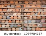 houses with stone walls  ... | Shutterstock . vector #1099904387