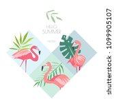 summer tropical creative vector ...   Shutterstock .eps vector #1099905107