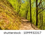 hiking trail on a hillside in a ... | Shutterstock . vector #1099932317