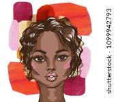 african american beautiful... | Shutterstock . vector #1099942793
