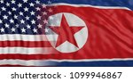 north korea and us of america... | Shutterstock . vector #1099946867