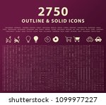 set of 2750 outline and solid... | Shutterstock .eps vector #1099977227