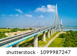 aerial view of the pont de... | Shutterstock . vector #1099987247