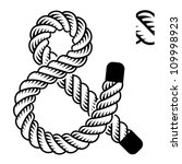 Vector Black Rope Ampersand...