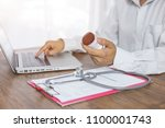 doctor to diagnose a disease... | Shutterstock . vector #1100001743