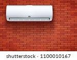 classic split air conditioner... | Shutterstock .eps vector #1100010167