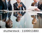 Small photo of marketing department meeting. young business men discussing affairs. colleagues communicating. managers talking about corporate dealings