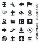set of vector isolated black... | Shutterstock .eps vector #1100015423