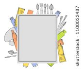 vector frame with  artistic... | Shutterstock .eps vector #1100022437