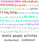 colorful silhouettes for useful ... | Shutterstock .eps vector #110002643