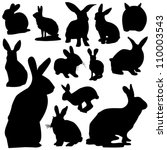 rabbit | Shutterstock .eps vector #110003543