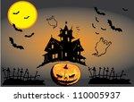 halloween | Shutterstock .eps vector #110005937