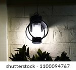 the lights at the resort are... | Shutterstock . vector #1100094767