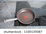 modern electric stove with... | Shutterstock . vector #1100135087