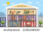 museum city building interior... | Shutterstock .eps vector #1100148533