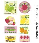 fruit labels | Shutterstock .eps vector #110018117
