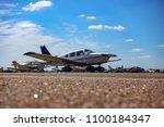 light aircraft at the airport | Shutterstock . vector #1100184347