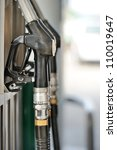 pump nozzles at the gas station.... | Shutterstock . vector #110019647