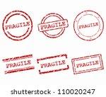fragile stamps | Shutterstock .eps vector #110020247