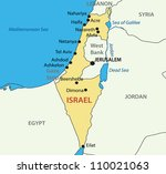 state of israel   map | Shutterstock . vector #110021063
