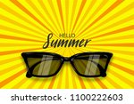 hello summer time. vector pop...   Shutterstock .eps vector #1100222603