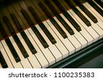 old piano keys | Shutterstock . vector #1100235383