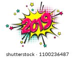 2019 happy new year christmas... | Shutterstock .eps vector #1100236487
