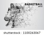 basketball of the particles.... | Shutterstock .eps vector #1100263067