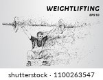 weightlifter of particles.... | Shutterstock .eps vector #1100263547